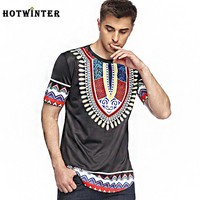 Fashion floral print national features short-sleeved men's t-shirts