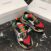 Balenciaga Red Triple-S Dad Torre Sneakers Trainers Running Shoes