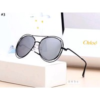 CHLOE personality tide brand metal large frame polarized sunglasses #3