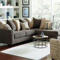 Chocolate Brown Couch with Chaise | Corey Two Piece Sectional Sofa