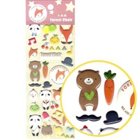 Panda Teddy Bear and Foxes Shaped Animal Puffy Stickers for Scrapbooking
