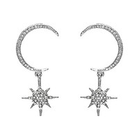 Terreau Moon Stars Drop Earrings