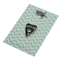 Ouija Planchette Enamel Pin with clutch back // Ouiji Board Mystic Occult lapel pins