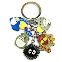5 in 1 My Neighbor Totoro Keyring Character Metal Hanging Decor