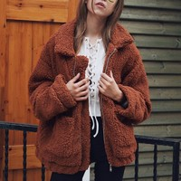 Faux Fur Soft Teddy Jacket