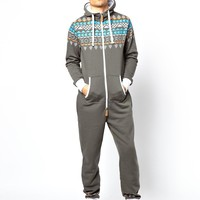 1ZE Aztec Onesuit with Contrast Elbow Patches