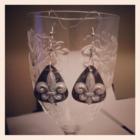 Guitar Pick Earrings by Betsy's Jewelry - Rocker Chic - Country Western - New Orleans Styles