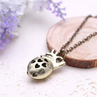 Long Necklace Heart Pendant Long Necklace Fashion Mens Beautiful Heart and Cut Out Pendant Hot Mens Alloy Necklace