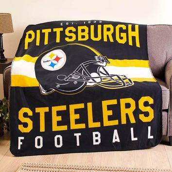 Official Licensed NFL Fan Plush Warm Cozy Fleece Sherpa Throw Blanket Gift Idea