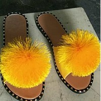 Summer new hot sale fashion flat-bottomed flip flops