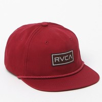 RVCA Forge Unstructured Snapback Hat - Mens Backpack - Red - One