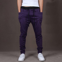 Purple Mens Comfy Fitted Joggers