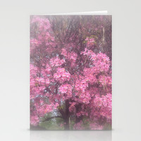 cherry's blossom - 3 Stationery Cards by Littlesilversparks