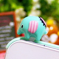 Cute Elephant Cell Plug for cell phone