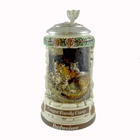 Anheuser-Busch COUGAR FAMILY CAMP STEIN Ceramic Animal Families Budweiser CS489