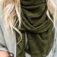 One With Nature Knitted Wrap Scarf