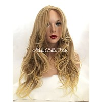 """Madeline Blonde Highlighted 16"""" Loose Wave Lace Front Wig"""