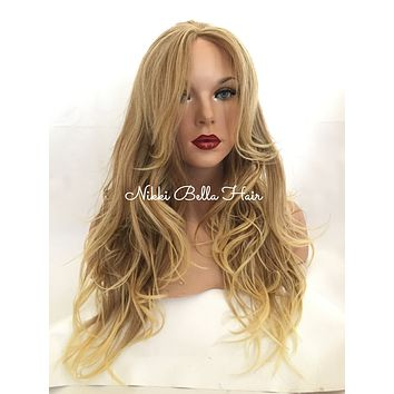 "Madeline Blonde Highlighted 16"" Loose Wave Lace Front Wig"