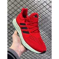 DCCK2 A613 Adidas Alpha Edge 4D Air Boost Mesh Breathable Running Shoes Red Green