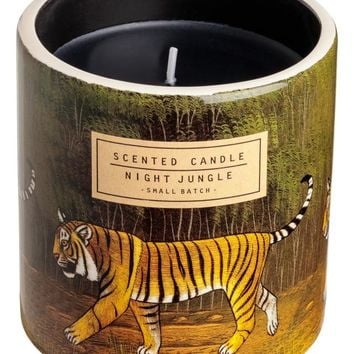 Scented candle in holder - Green/Night Jungle - Home All | H&M GB