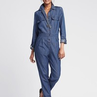 Banana Republic Womens Denim Jumpsuit