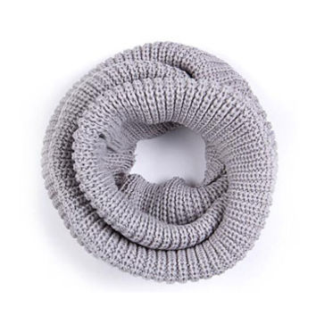 Arionna Wool Knitted Scarf Grey