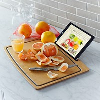 Cutting Board with iPad Stand by The Orange Chef Co