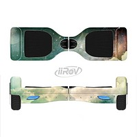 The Cloudy Grunge Green Universe Full-Body Skin Set for the Smart Drifting SuperCharged iiRov HoverBoard