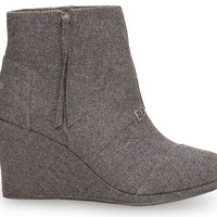 Grey Wool Women's Desert Wedge Highs