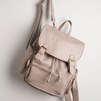 Travel, Scholastic Visualize Victory Backpack in Taupe by ModCloth