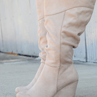 The Addict Wedge Boot by Soda {Black or Taupe}