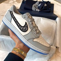 Dior x Air Jordan 1 Low low-top skateboard shoes