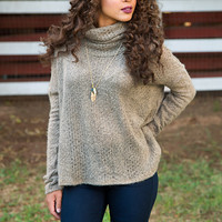 Elliane Knit Turtleneck Top
