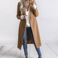 New Winter Autumn Coat Women Elegant Trench Coat