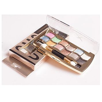 Naked Glittery 12 Color Eyeshadow Palette with Brush