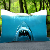 "Jaws Movie Shark Attack Custom Pillow Case 30"" x 20"""