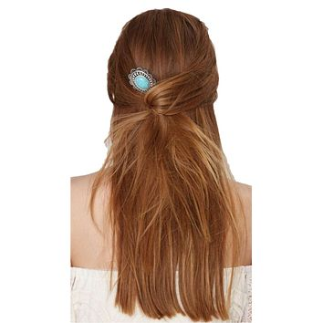 Turquoise Concho Hairpin