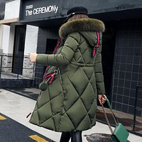 Cockscomb New Winter Women Coat Jacket Long Style Warm High Quality Woman Bio Down Parka Winter Coat with Faux Fur Hood
