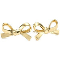 "Kate Spade New York ""Skinny Mini"" Bow Studs (Gold)"