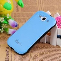 Blue New Ultra Shock-Absorbing iFace Case Cover Skin For Samsung Galaxy S3 III i9300