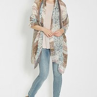mixed pattern scarf wrap   maurices