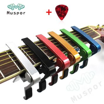 Trigger Quick Change Key Clamp Capo for Electric Acoustic Classic Guitar Ukulele +1 Pick Free Shipping