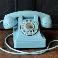 """Vintage Telephone, """"Lucy"""" Style, Robin's Egg Bl..."""