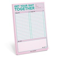 """Get Your Shit Together Notepad in Pastel Lavender 
