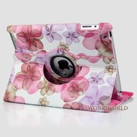 Amazon.com: Ctech Stylish Lucky Flowers Case With 360 degrees Rotating Swivel Stand-Pink: Computers & Accessories
