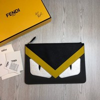 Kuyou Gbt391104 Fendi Leather Slim Pouch 30*20*2cm