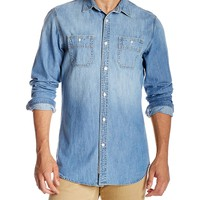 Quality Durables Co. Men's Easy-Fit Denim Work Shirt