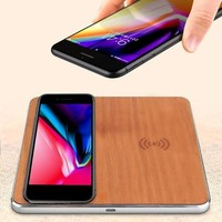 Happy Birthday Gifts For Men Qi Wireless Charger Fast Wireless Charging Pad   Dual Wooden Fast QI Wireless Charger