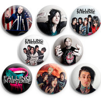 Falling in Reverse Pinback Buttons Badge 1.25 inch (Set of 8) NEW