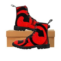 Root Chakra Women's Canvas Boots